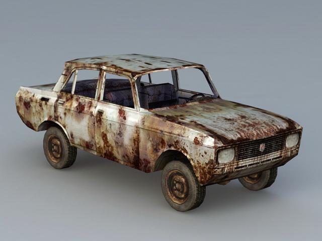Abandoned Car 3d model Object files free download - modeling 43073
