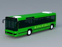 Green Bus 3d model