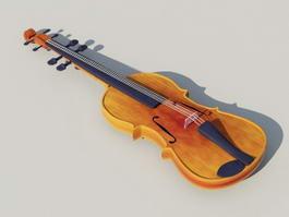 Orange Violin 3d model