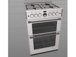 Stainless Steel Oven 3d model