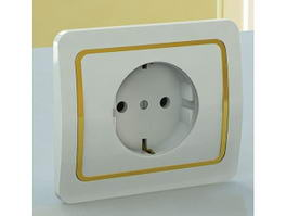 Wall Plug Outlet 3d model