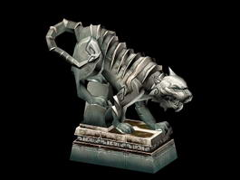 Tiger Statue Sculpture 3d model