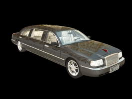 Hongqi Limousine Town Car 3d model