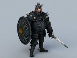 Medieval Black Knight 3d model