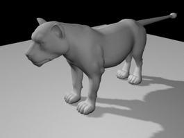 Lioness Rig 3d model