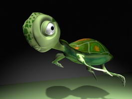 Cute Cartoon Tortoise Rig 3d model