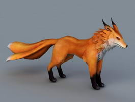 Three Tailed Fox 3d model