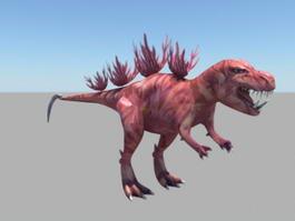 Red Dinosaur Monster 3d model
