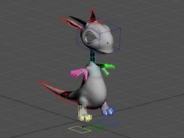 Cute Dragon Rigged & Animated 3d model