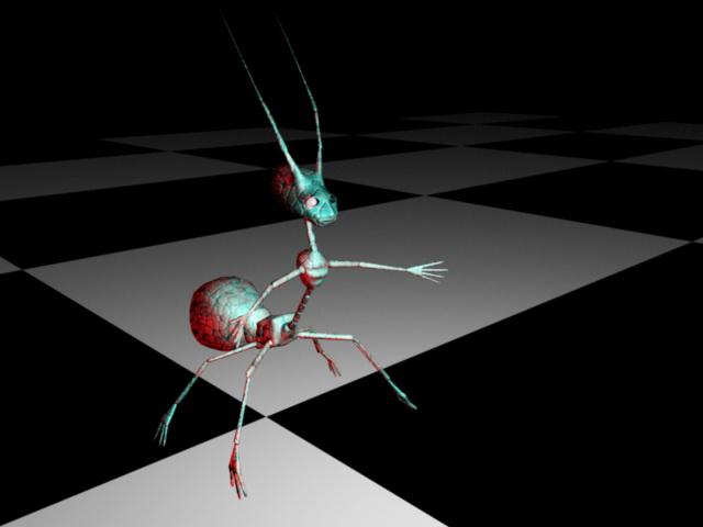Cartoon Ant 3d model Maya files free download - modeling