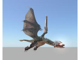 Flying Dragon Rigged 3d model