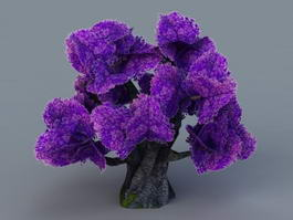Purple Tree 3d model
