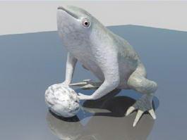 American Bullfrog 3d model