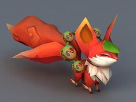 Anime Fox 3d model