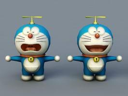 Doraemon Cartoon 3d model