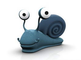 Cute Cartoon Snail 3d model