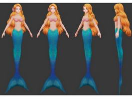 Beautiful Anime Mermaid 3d model