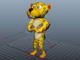 Humanoid Leopard Rig 3d model