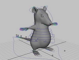 Cartoon Mouse Rigged 3d model