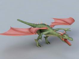 Green Wyvern 3d model