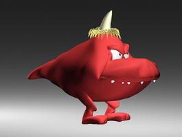 Cute Cartoon Monster 3d model