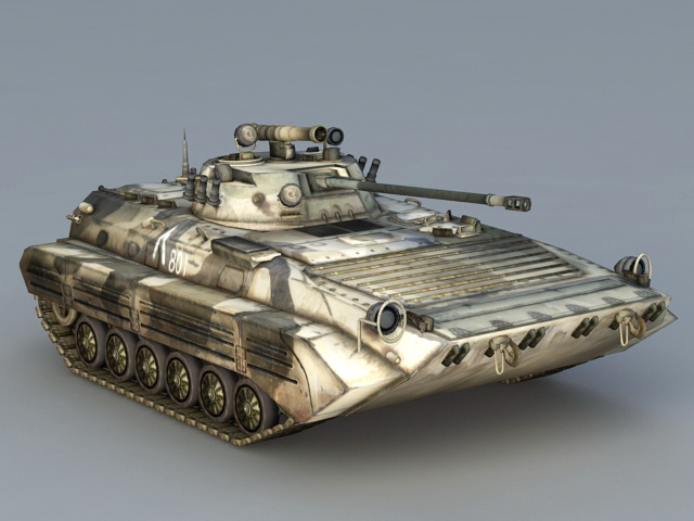 Modern Light Tank 3d model