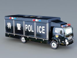 SWAT Truck 3d preview
