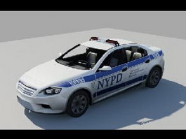 NYPD Ford Mondeo 3d model