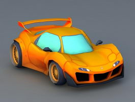 Cartoon Sports Car 3d model