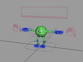 Monsters Inc. Mike 3d model