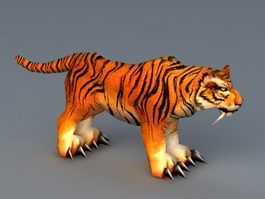Low Poly Tiger 3d model