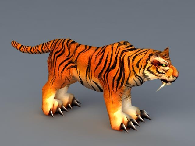 Low Poly Tiger 3d model