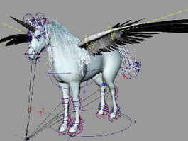 Flying Unicorn Rig 3d model