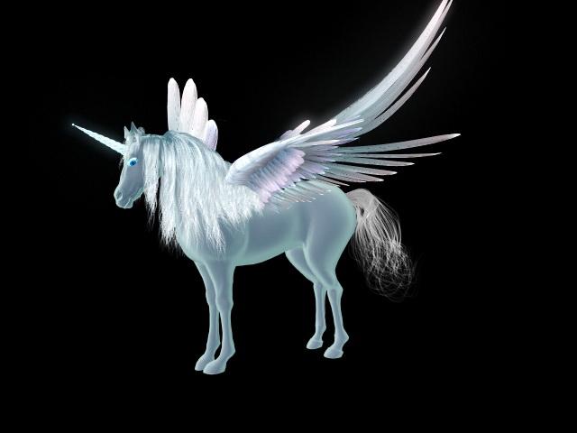 Flying Unicorn Rig 3d model