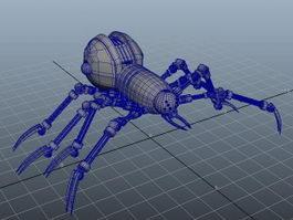 Robot Spider Art 3d model
