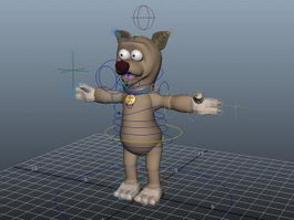Cute Cartoon Dog Rigged 3d model