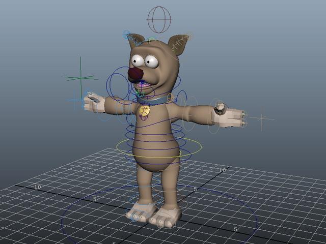 Cute Cartoon Dog Rigged 3d model