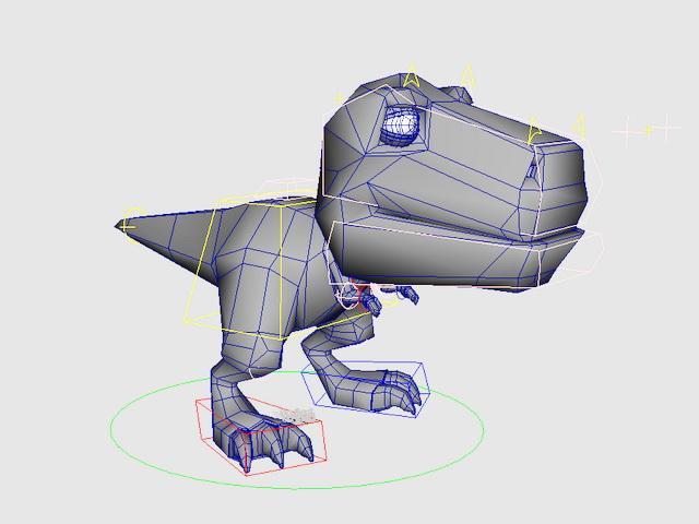 Cartoon Dinosaur Rig 3d model