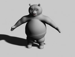 Cartoon Panda Bear 3d model