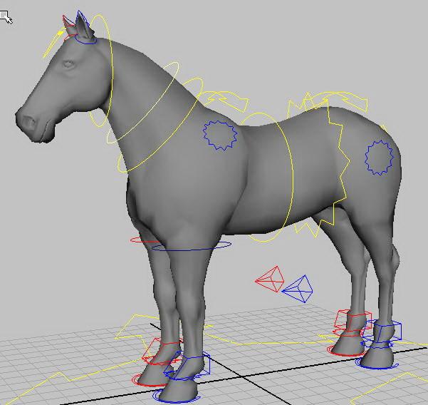 Horse Rig 3d model