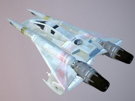 Sci-Fi Fighter Aircraft 3d model