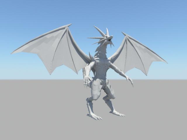 Humanoid Dragon Rig 3d model