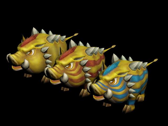 Yellow Boar Rig 3d model