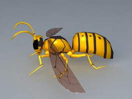 Yellow Wasp 3d model