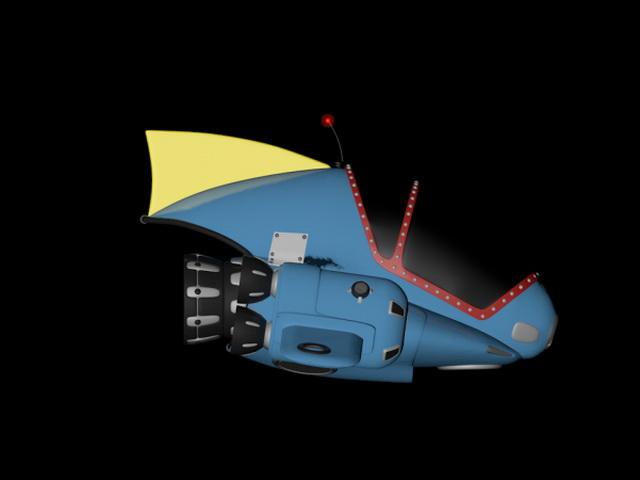 Spaceship Cartoon 3d Model Cinema 4D Files Free Download