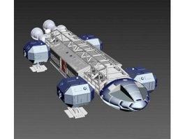 Large Sci Fi Ship 3d model