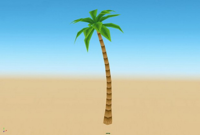 Cartoon Palm Tree 3d model