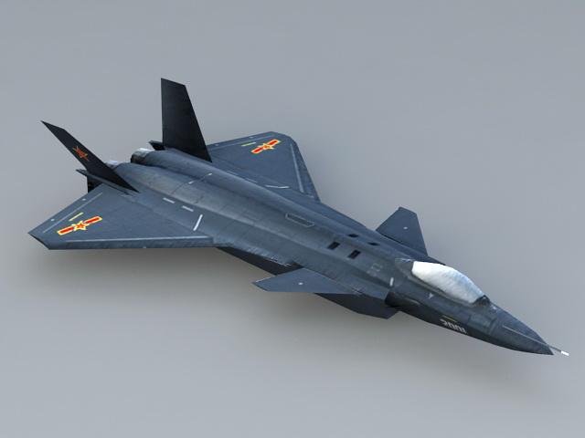 Chengdu J-20 Stealth Fighter 3d model