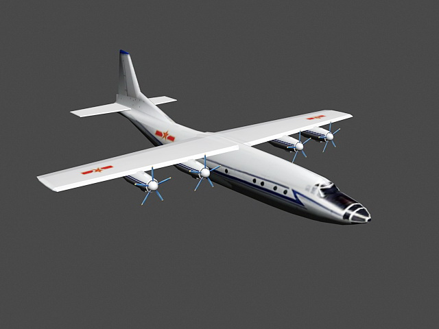 Chinese Y-8 Aircraft 3d model