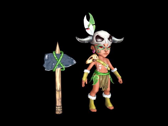 Cartoon Barbarian 3d model